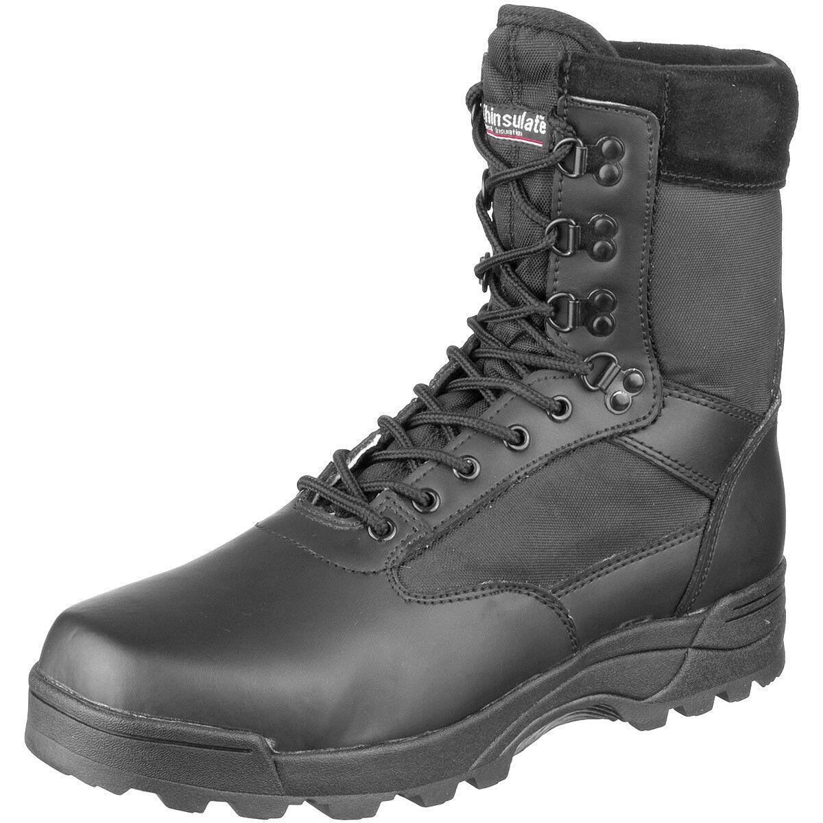 Brandit Taktische Militärische Bekämpfung Stiefel Sicherheitspolizei Leder Schuh