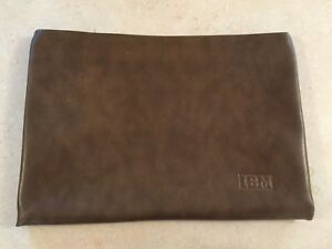 Vintage 1980s IBM Branded Hazel Zipper Briefcase Document Holder