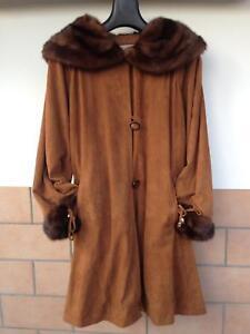comprare on line 3d9bd 48baa Dettagli su Giacca di renna con collo e bordi visone
