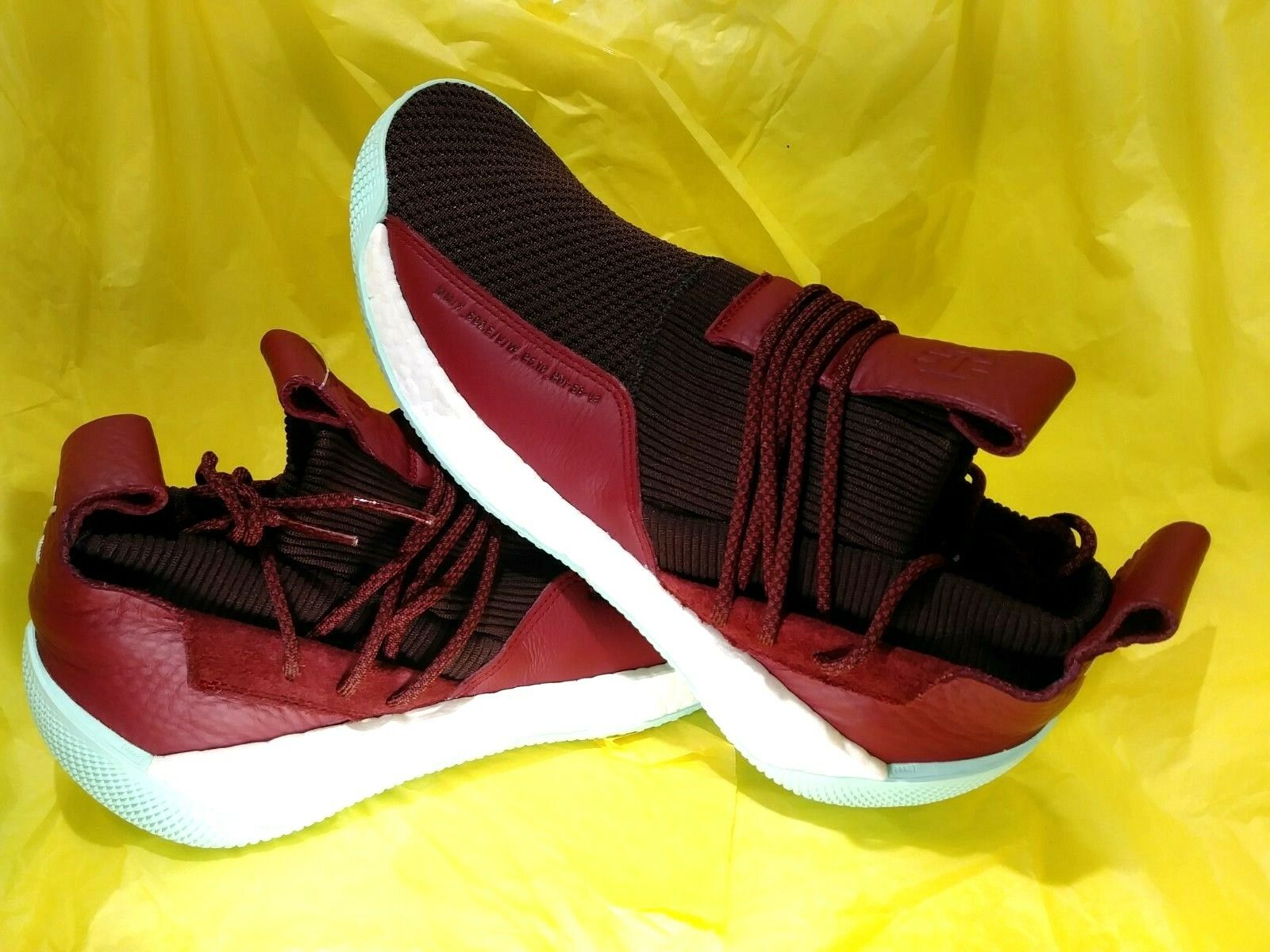 NEW MEN's Adidas James Harden LS 2 Lace BOOST Basketball skor Maroon Storlek 11.5