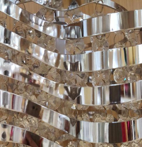 Intérieur moderne vague Chrome Perles Non-électrique Plafond Lumière Pendentif