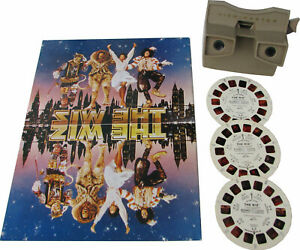 Michael-Jackson-Lot-THE-WIZ-View-master-Viewmaster-Set-Reels-Viewer-Program-1978