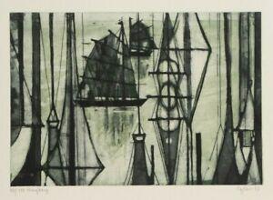 Otto-Eglau-Honkong-von-1963-Radierung-handsigniert-100-Exem