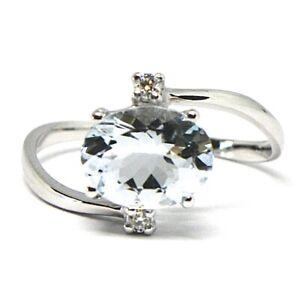 Ring-Weissgold-750-18K-Aquamarin-Schnitt-Oval-Diamanten
