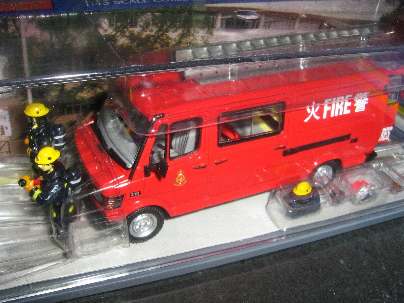 1 43 CORGI Model Hong Kong Mercedes-Benz 310 Fire Light rescue Unit Van Red