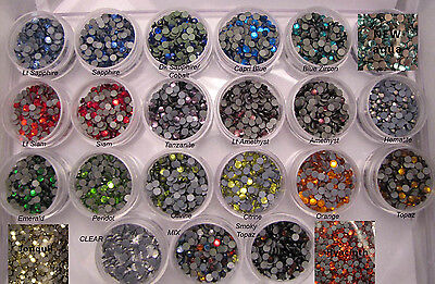 4mm ss16 GLASS Hotfix Rhinestones SAMPLE or WHOLESALE -Can Iron On or Glue on