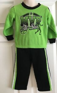 Tuff-Guys-All-Star-MVP-Player-Green-And-Black-Pajamas-Size-24-Months