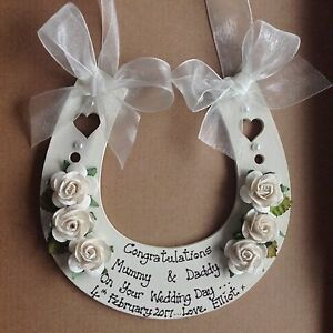 Image Is Loading Personalised Wedding Gift Horse Shoe Mr Amp Mrs