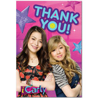 Icarly Thank You Notes (8) Birthday Party Supplies Stationery Cards Notes Nick