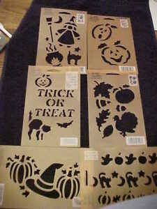 Halloween Stencil 6 Templates Halloween Cats Witch Pumpkins Fall Jack o Lantern