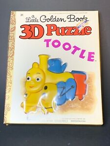 Vintage-1978-A-Little-Golden-Book-3D-Puzzle-the-Tootle-the-Toy-Train-MOC-Scarce