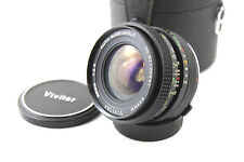 OLYMPUS OM Fit Vivitar 1:2.5 F=28mm Wide Angle Lens. TX Mount Adapter Included.