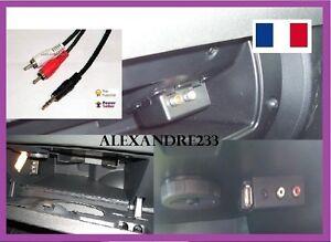 Cable-auxiliaire-RCA-jack-mp3-autoradio-citroen-peugeot-208-3008-308-307