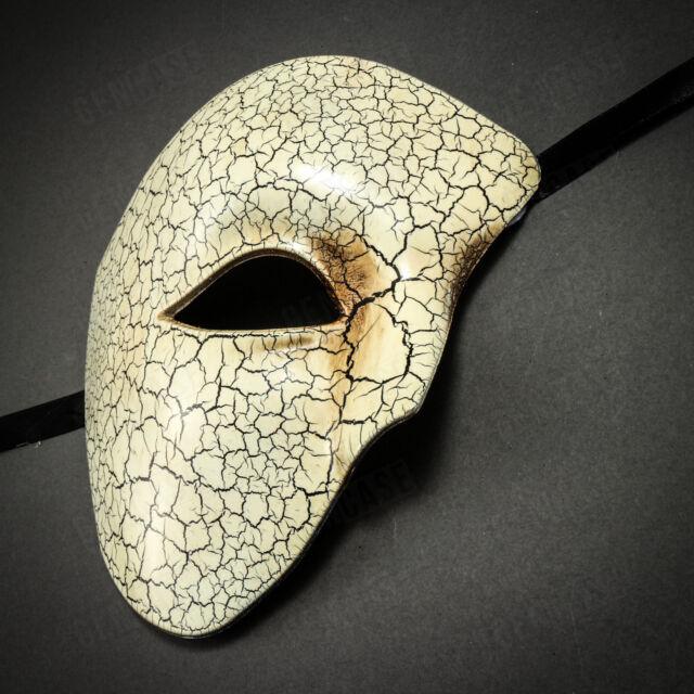 Blanc Masque Coolwife Mascarade Vintage Fant/ôme de lOp/éra One Eyed Costume Demi-Visage