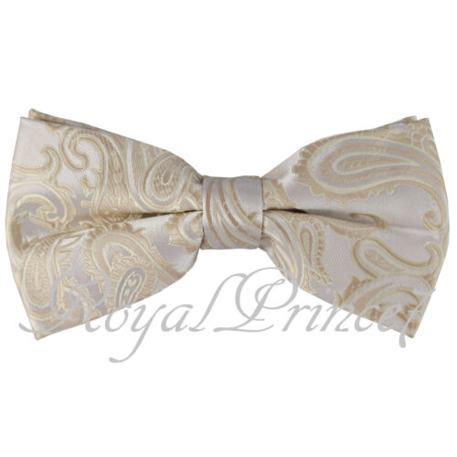 Paisley Bow tie Wedding Party Prom Black Pink Gold Aqua Green Royal Blue Coral
