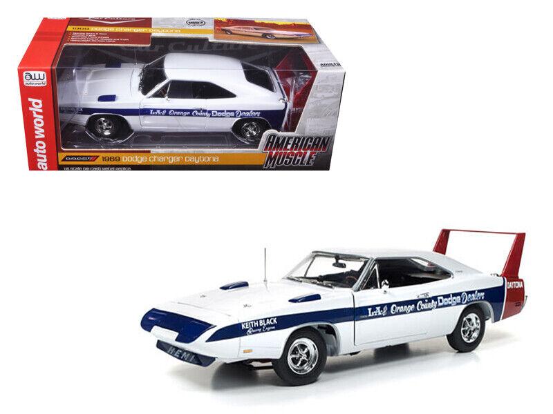 Autoworld 1 18 1969 DODGE Charger Daytona la & arancia County Diecast AMM1091