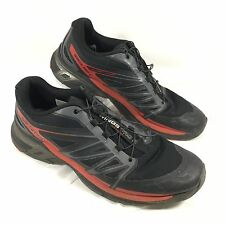 Men's Salomon Wings Pro 2 Trail Running Shoes Black Sz 11.5