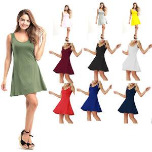 3fb53d0866ca Details about Summer Women Evening Party Sleeveless Short Mini Dress  Cocktail Beach Sundress