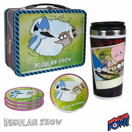 Regular Show Mordecai and Rigby Tin Tote Gift Set - Convention Exclusive