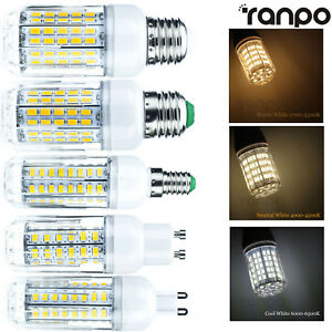 Dimmable-LED-Corn-Bulb-6W-To-30W-E26-E27-E12-E14-G9-GU10-5730-SMD-Light-Lamp