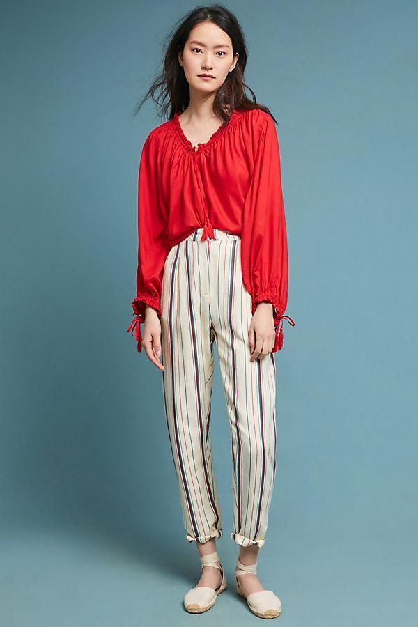 NEW Anthropologie Antik Batik Striped Pants size M MSRP   160