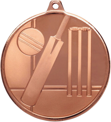 Cricket Medal 50mm FREE Engraving /& Neck Ribbon