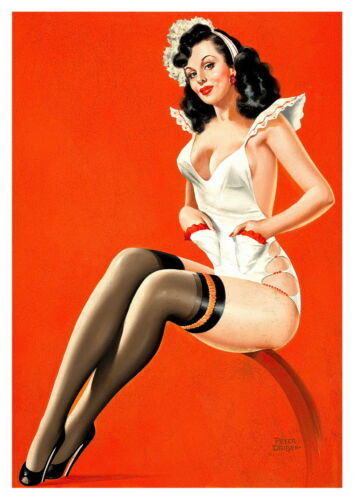 Reproduction. 40/'s Pin Up I: Vintage P Driben artwork poster Wall art