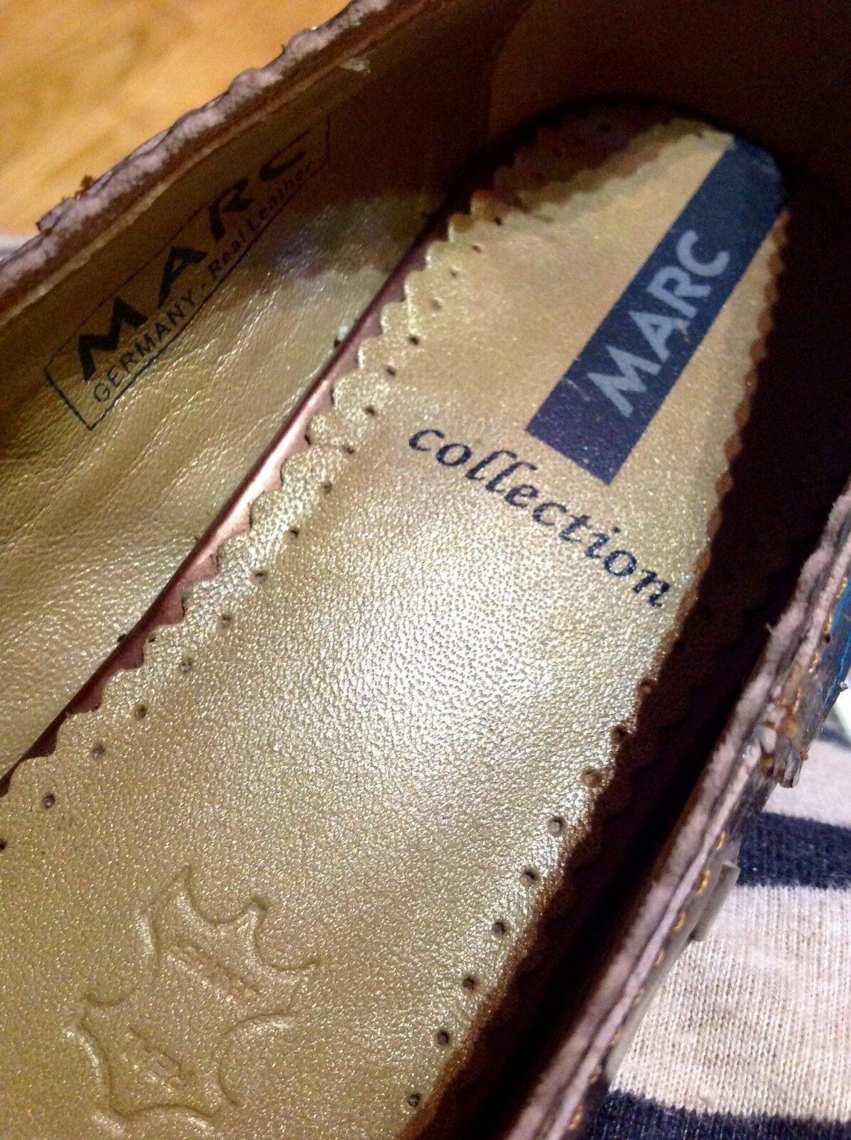 Details zu MARK ADAM ° bequeme Halbschuhe Gr. 41 beige Leder Damen Schuhe Schnürer