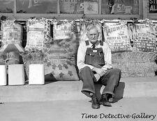Proprietor of Rees Grocery Store, Topeka, Kansas - 1938 - Historic Photo Print