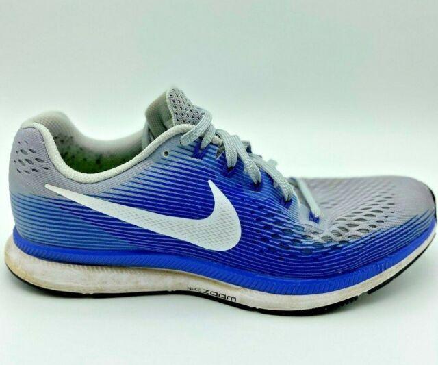 ganar Sorprendido ballet  Size 10.5 - Nike Air Zoom Pegasus 34 Grey Racer Blue for sale online   eBay