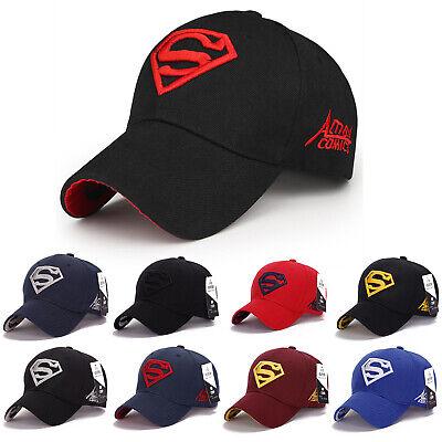 2b0552d9e398a4 Herren Damen Basecap Baseball Cap Verstellbar Superman Hut Schirmmütze  Snapback   eBay