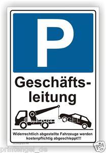 Parking réservé au personnel de direction- Parking Bouclier- Parkschild Remarque- p195+-ng-Parkplatzschild-Parkschild Hinweis- P195+afficher le titre d`origine