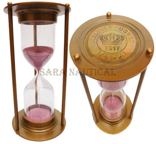 Nautical Brass Marine Antique Kelvin Hughes Maritime Sand Timer Hourglass Decor