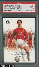 2004 SP Authentic Soccer Cristiano Ronaldo Manchester United RC Rookie PSA 9