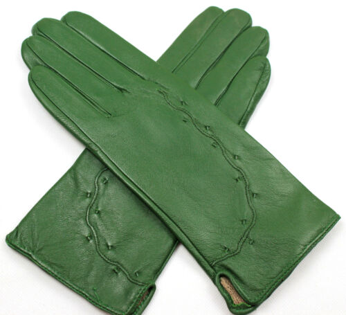 Damen  Echt Leder Handschuhe Gefüttert  Gr  S   M   L   XL   XXL   //W//10*