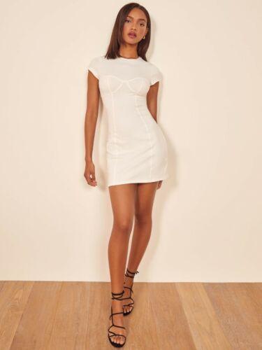 Reformation Pratt White Mini Dress Size M