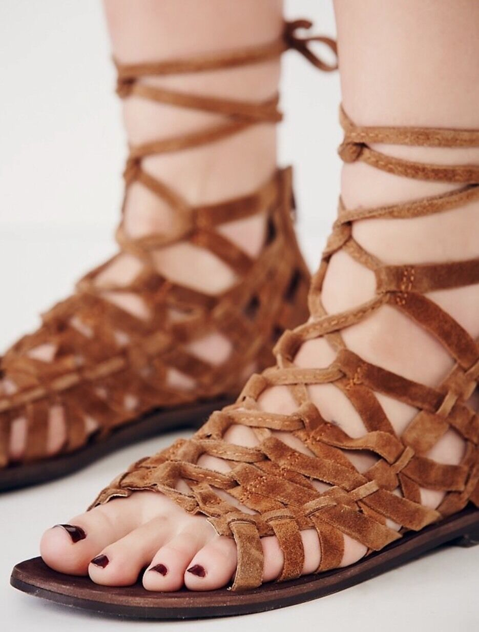 NEW Free People Great Lengths Gladiator Gladiator Gladiator Sandals Dimensione 41 c975bc
