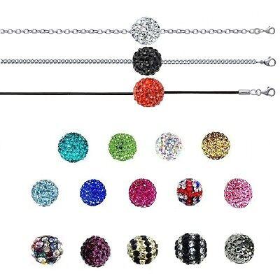 Beads & Jewelry Making Halskette Stil Shamballa Ball Disco & Kette Edelstahl Neu Zur Wahl Relieving Heat And Sunstroke