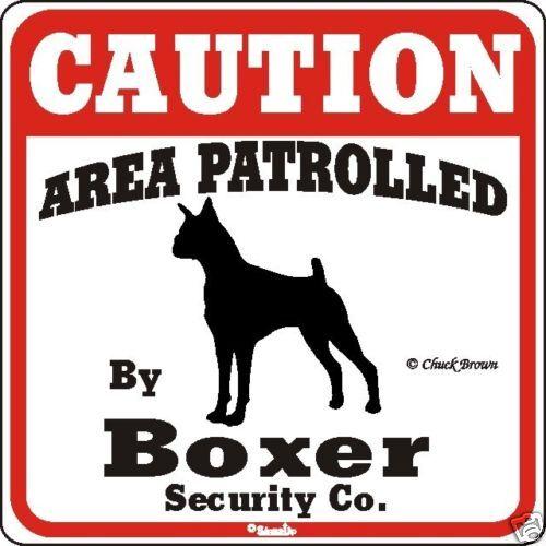 Boxer Caution Dog Sign