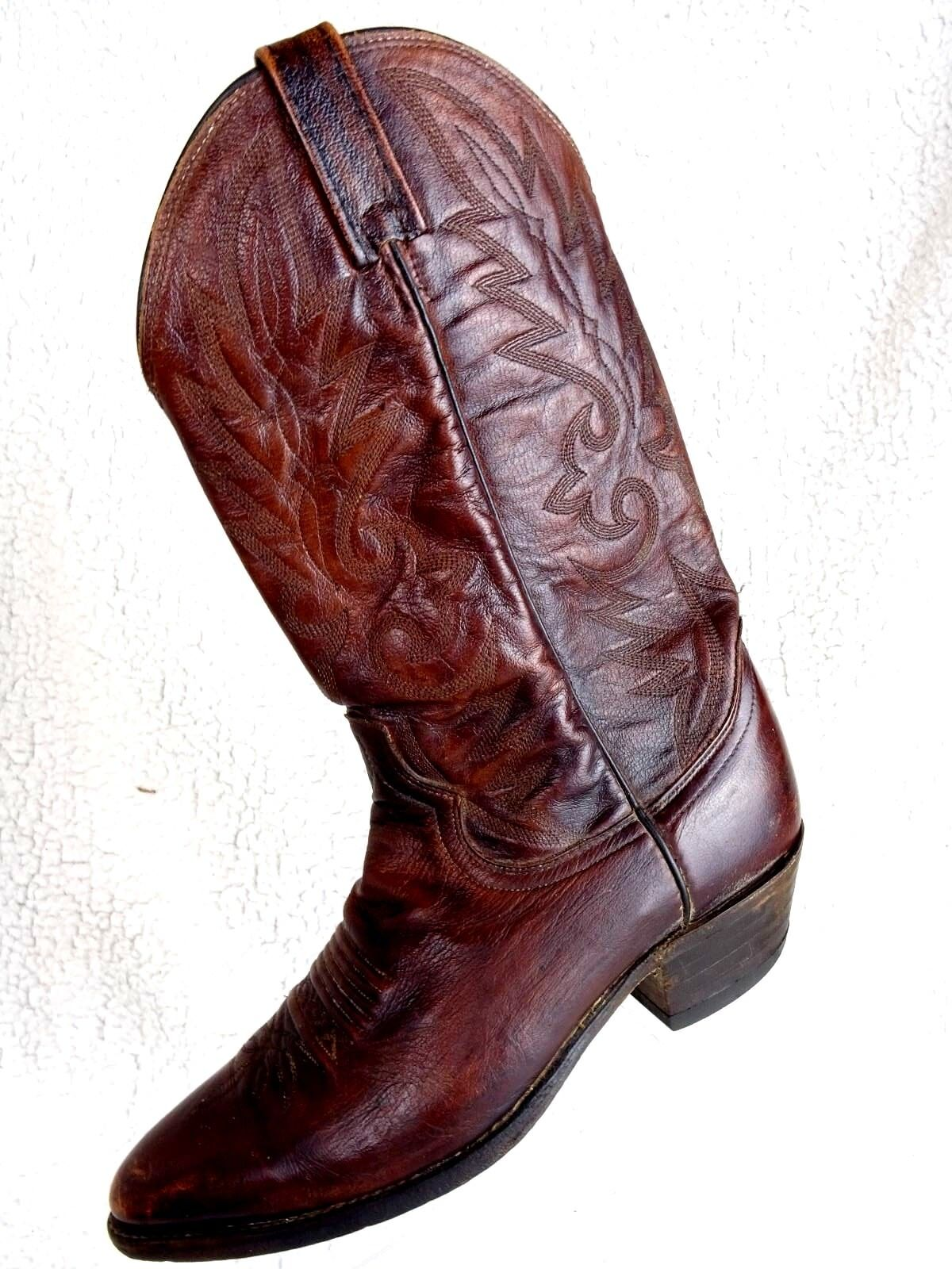 DAN POST nero Cherry rosso Leather Men's  Dimensione 9.5D Western Cowboy stivali  consegna rapida