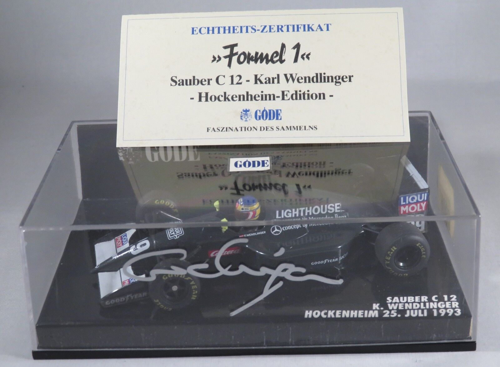 SAUBER ILMOR C12 C12 C12  29 Karl Wendlinger 1993 GERMAN GP signed box MINICHAMPS 1 43 9ba982