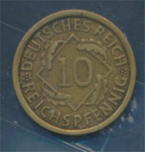 German-Empire-Jagerno-317-1933-J-very-fine-10-reich-pfennig-spikes-7879700