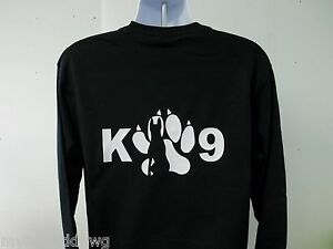 K-9-Handler-Trainer-Long-Sleeve-T-Shirt-Choice-Of-Shirt-Color-and-Print-Colors