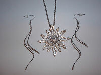 Park Lane Jewelry, solara Necklace & whisper Earrings Cz's & Crystals,