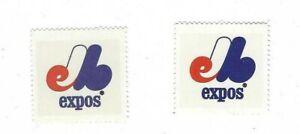 1983-FLEER-BASEBALL-2-STAMPS-MONTREAL-EXPOS