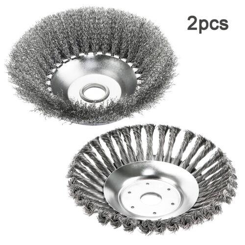 Unkrautbürste Wildkrautbürste 200 x 25,4 mm Drahtbürste Freischneider Motorsense