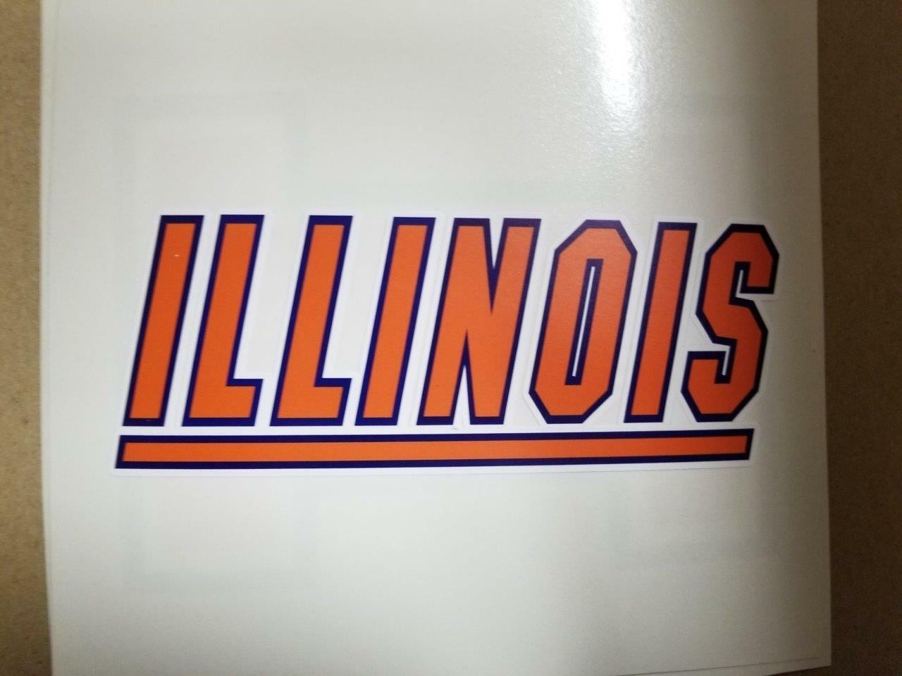 Illinois Fighting Illini cornhole board or  vehicle decal(s)FI3  brand on sale clearance
