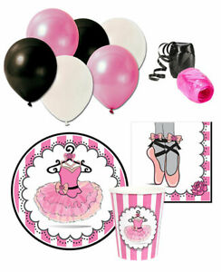 Ballerina Birthday Party Package with Balloons for 8 Guests