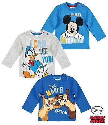 Disney Mickey Langarmshirt blau 62-92 Gr
