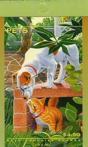 1996-AUSTRALIAN-STAMP-BOOKLET-PETS-10-x-45c-STAMPS-MUH